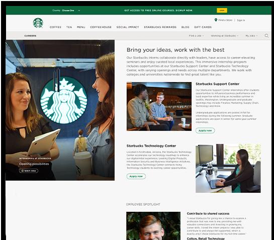 Screenshot of technology center website