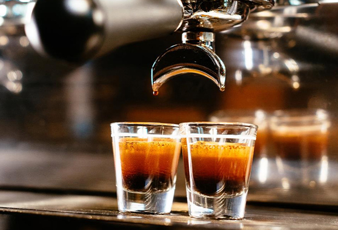 Two glasses with coffee